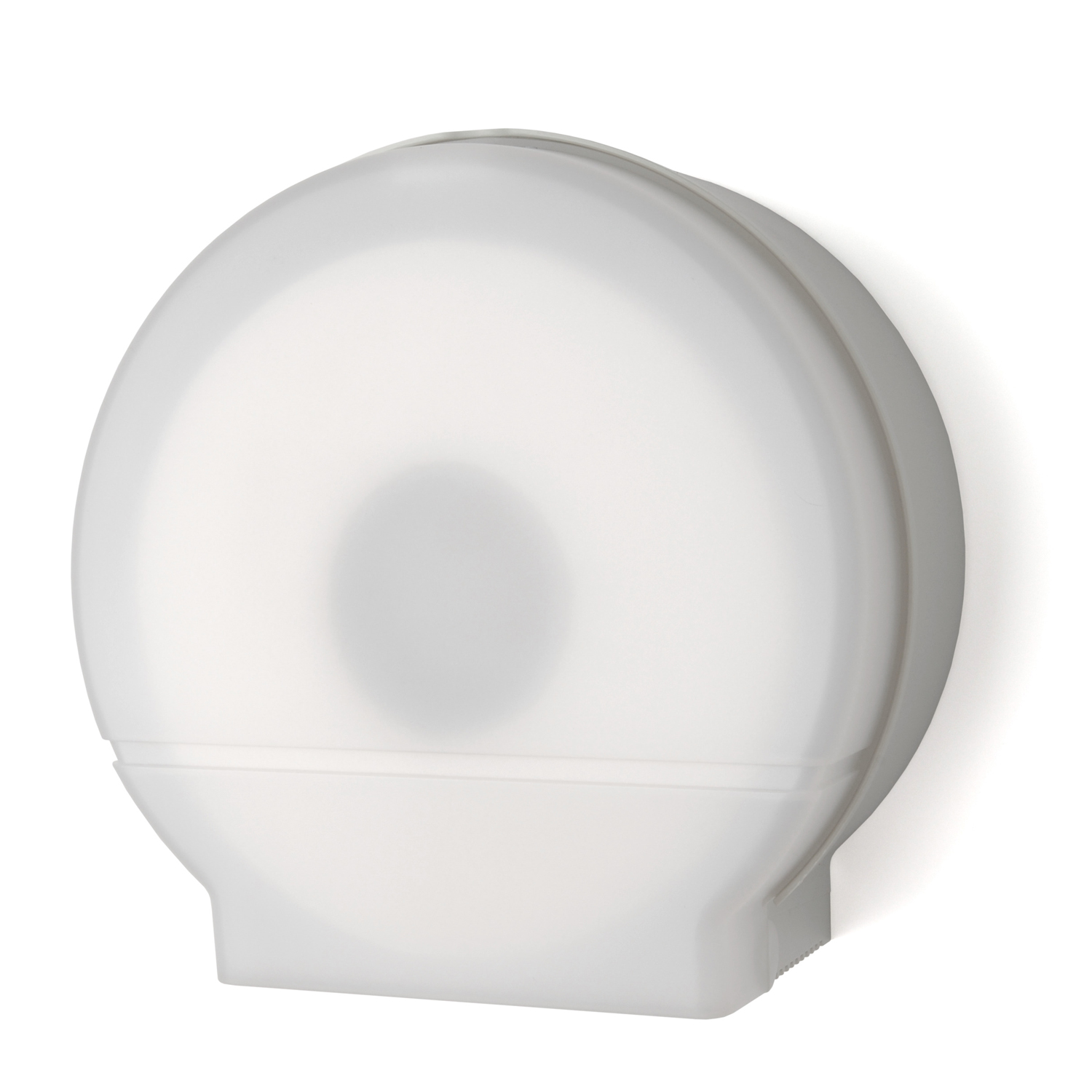 Single 9 Inch Jumbo Roll Toilet Tissue Dispenser: Translucent White