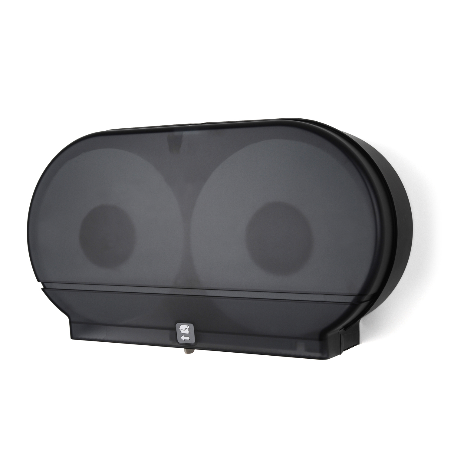 Twin 9  Jumbo Toilet Tissue Dispenser: Translucent Dark