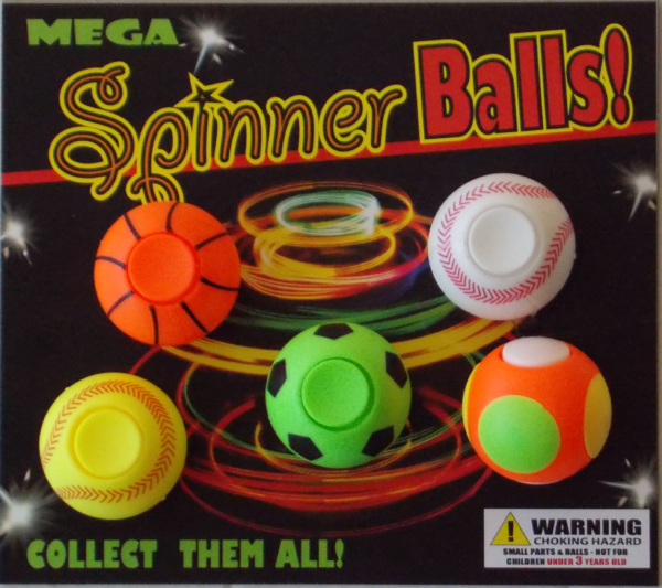 Display Card for Spinner Balls