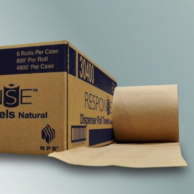 NPS 30400 - Kraft Roll Towel 6/8x800'/Case