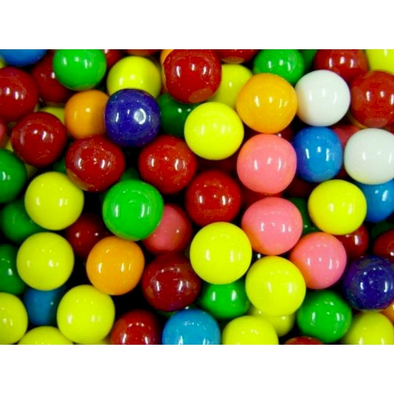 1017 - Assorted Gumballs Bulk 7/8 inch (1,640 ct.) Replaces Item 1014 (old 1,430 ct. Gum)