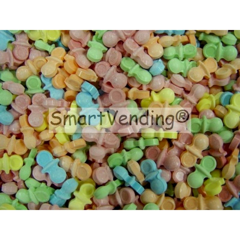 Oh Baby Pacifiers Candy (Uncoated) Bulk 22.7 lbs.