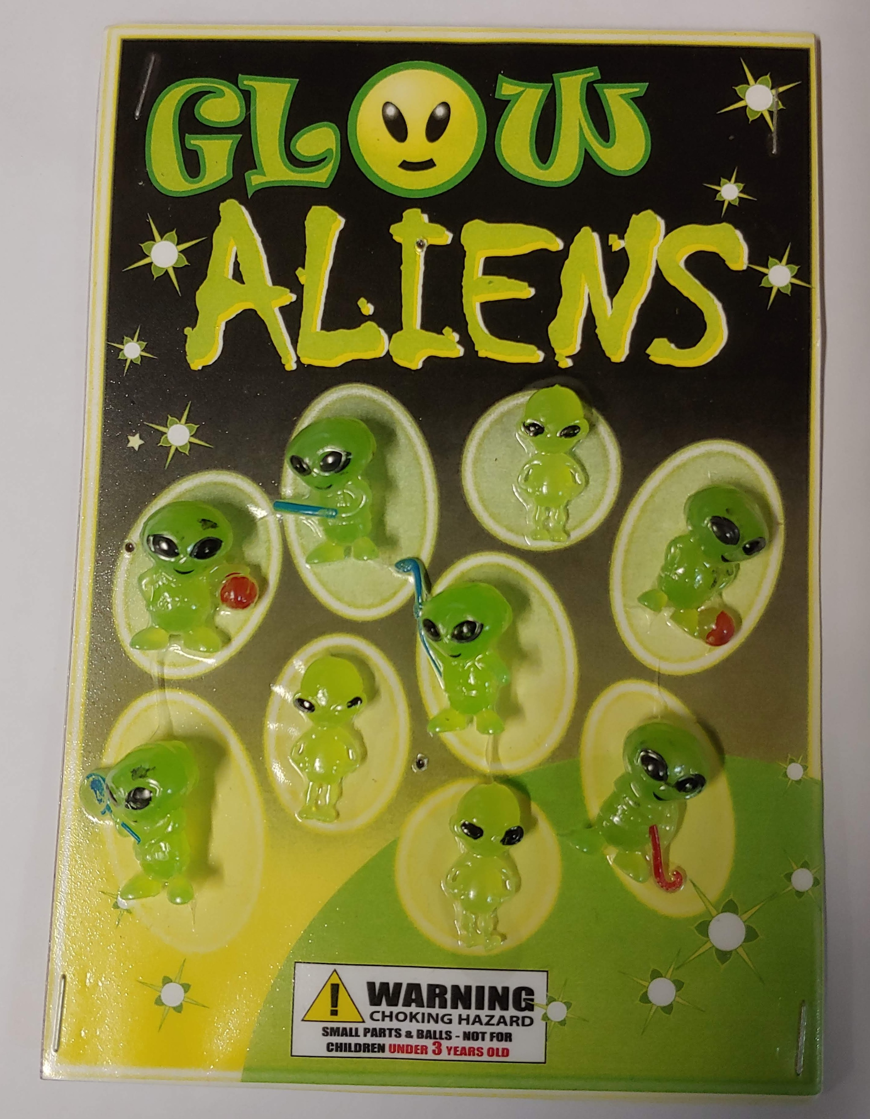 Glow Aliens in 1.1 inch Capsules (250 ct.)