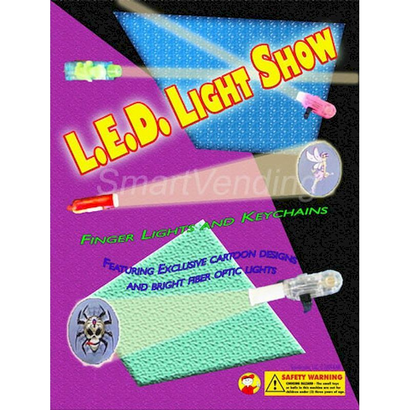 31-LEDCTD2V - Vertical Display Card (Tomy) for Display for LED Cartoon Lights 100% w/Fiber Optic Light