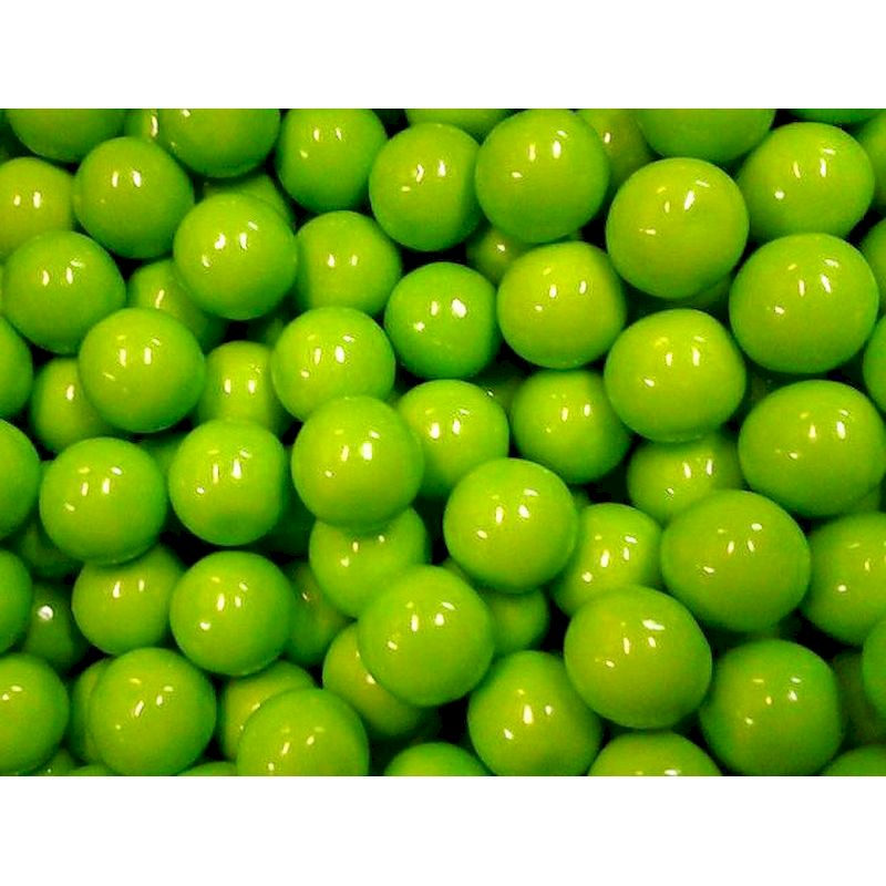 4076 - Oak Leaf Green Apple Gumballs ( 850 ct.) 14.17 lbs. Net Wgt.