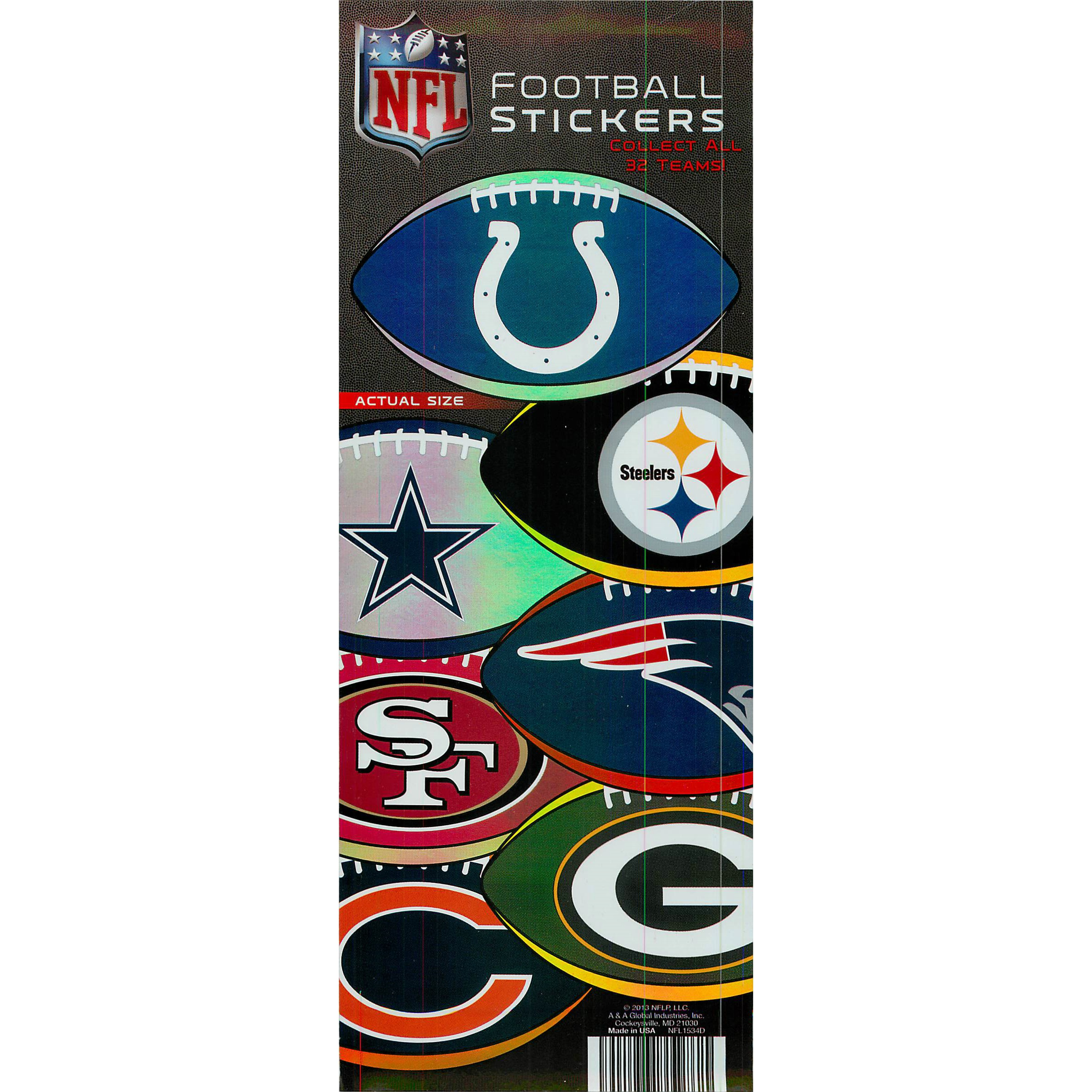NFL Football Logo Stickers in Folders (300ct.)