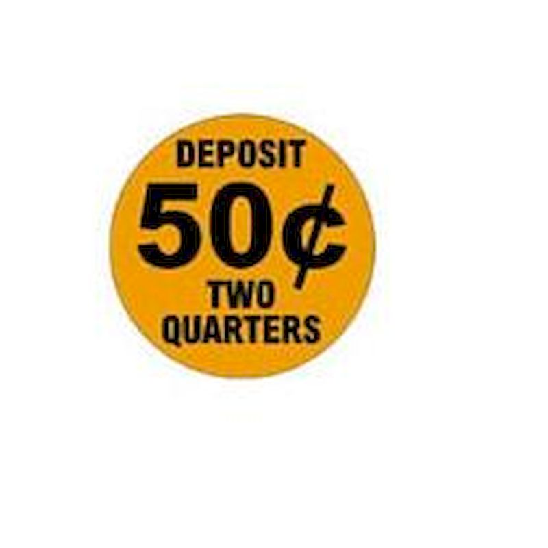 50 Cents Price Decal - Outside Adhesion (12 ct.)