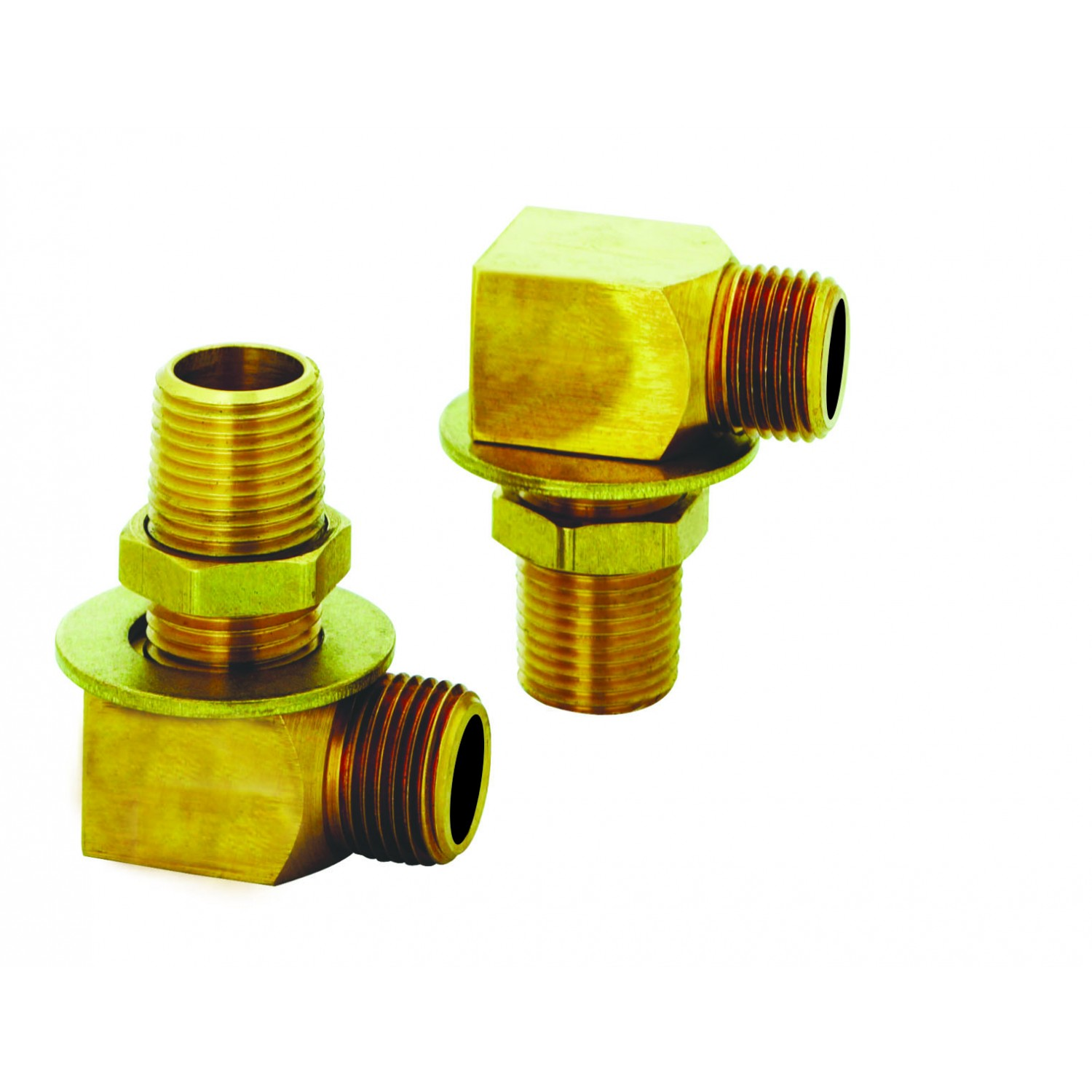 "T&S Brass Installation Kit 1/2"" NPT Nipple, Lock Nut & Washer, Short Elbow (1/2"" NPT Female/Male) B-0230-K"