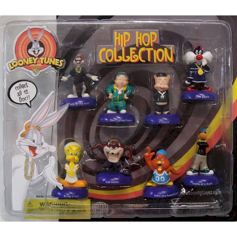 DLTHHC2 - Looney Tunes Hip Hop Collection Blister Pack Display with 8 Collectible Figurines