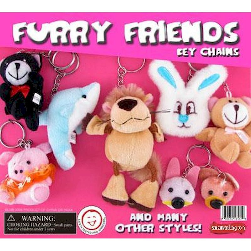 "FUFRC2 - Furry Friends Key Chains in 2"" Capsules (250 ct.)"