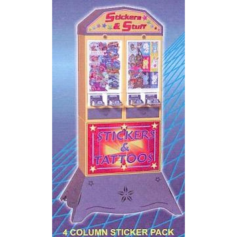 Elite Series 4 Column Sticker Machine Stack w/Logo Lid