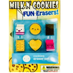 Milk N' Cookies Erasers  in 1.1 inch Capsules (250 ct.)
