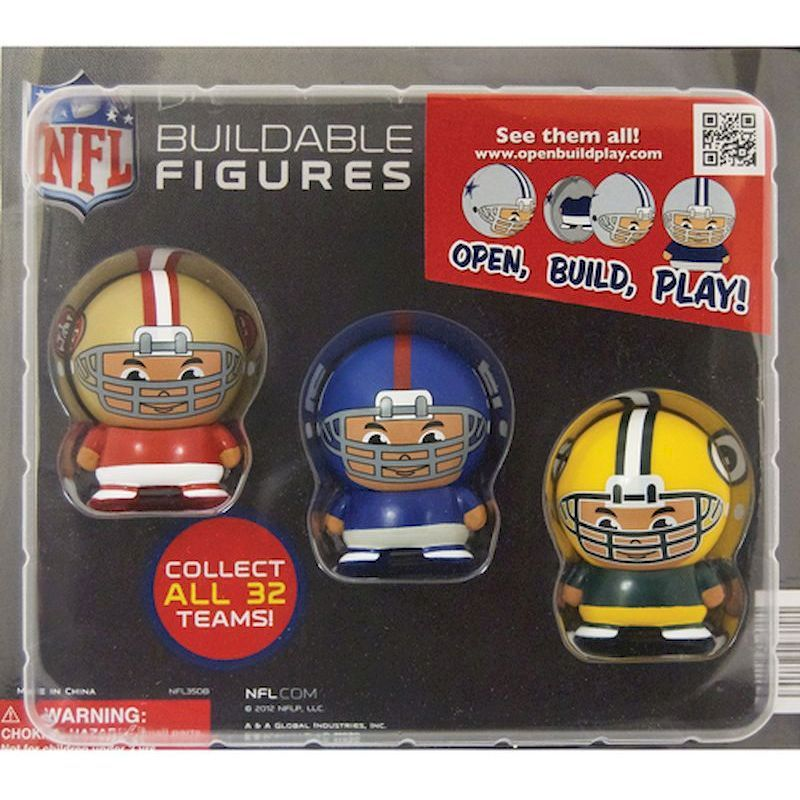 30-NFLBFC2 - NFL Capsule Buildable Players in 2 inch Capsules (250 ct.) FREE SHIPPING!!!