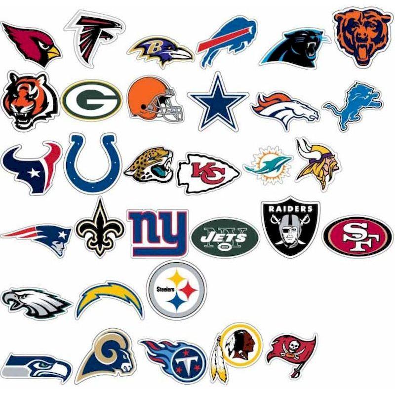 Pro football team logos 40 nfllgs nfl logo stickers