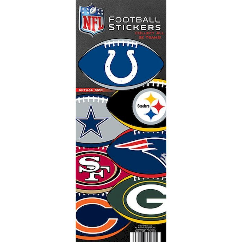 40-NFLLS - NFL Football Logo Stickers in Folders (300 ct.)