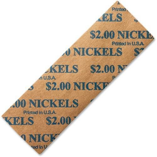 PM Nickels Coin Tubular Wrappers Flat 1,000ct