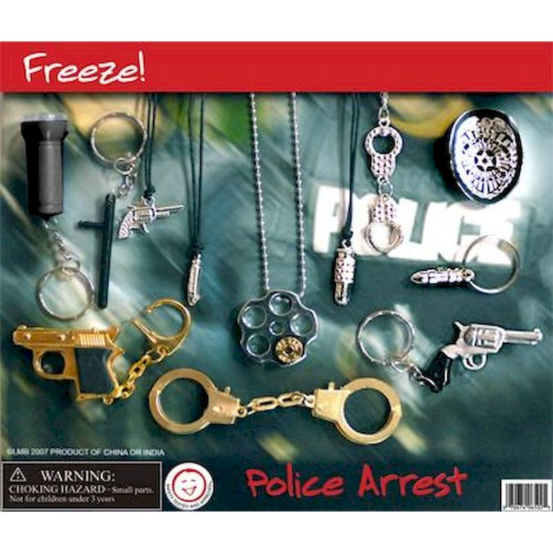 DPOARC2 - Display for Police Arrest Keychains & Necklace Mix