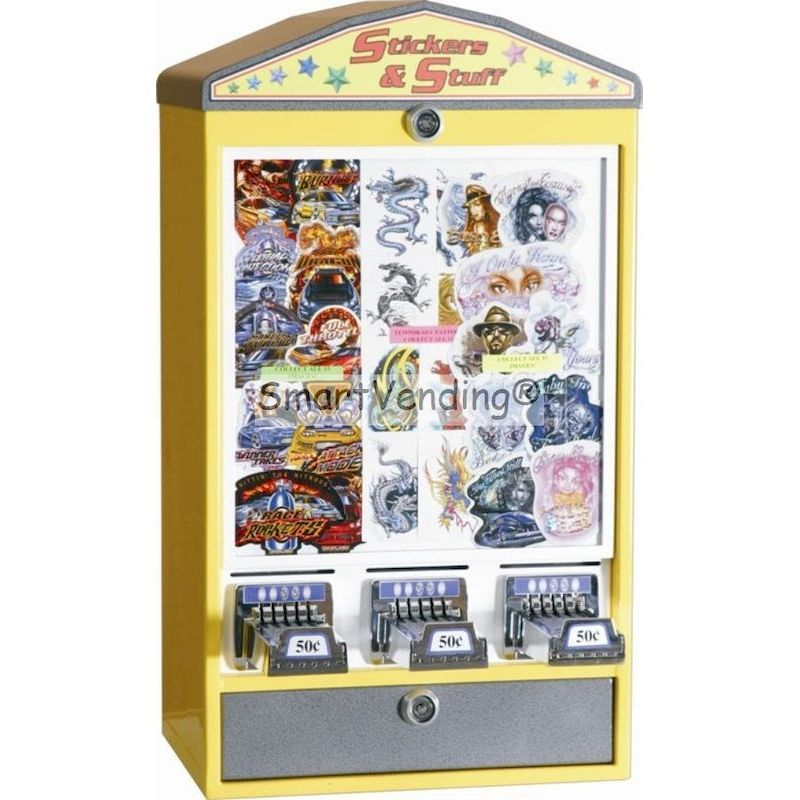 Elite Series 3 Column Sticker Machine w/Logo Lid