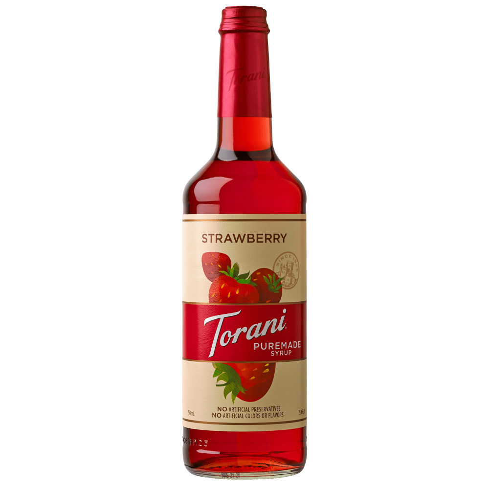 Torani Strawberry Puremade Syrup 750ml