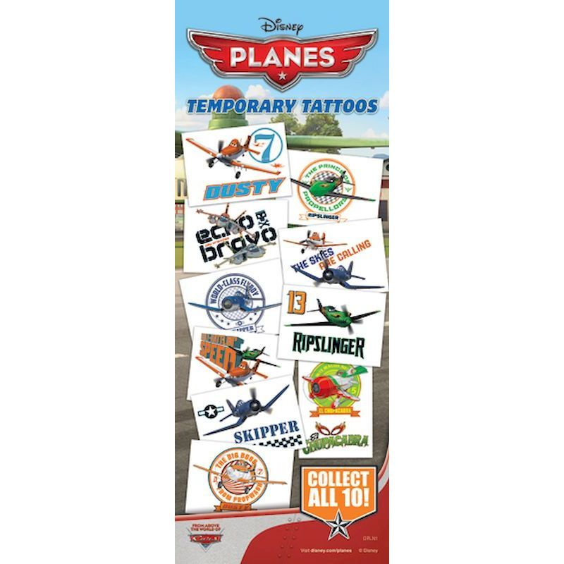 40-DPLNT - Disney Planes Tattoos in Folders (300 ct) with FREE Display