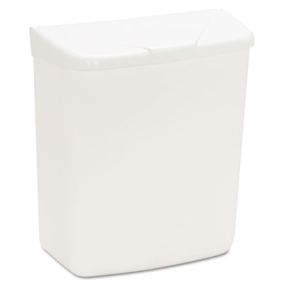 Hospeco Wall Mount Sanitary Napkin Receptacle-ABS PPC Plastic 1 gal White