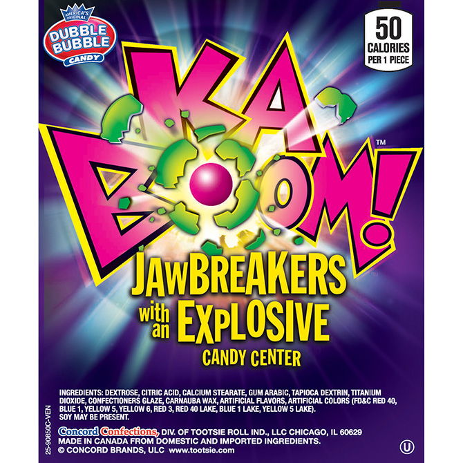 Dubble Bubble Kaboom Asstorted Jawbreakers 1 inch (850 ct.)