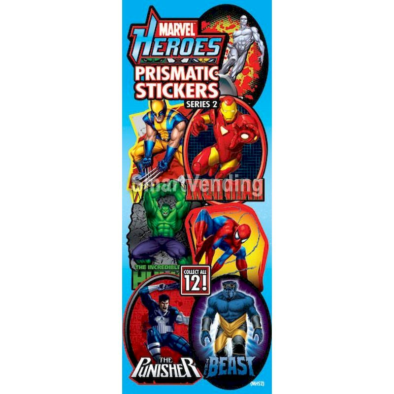 41-MHPS2 - Display Card for Marvel Heroes Prismatic Stickers Series #2