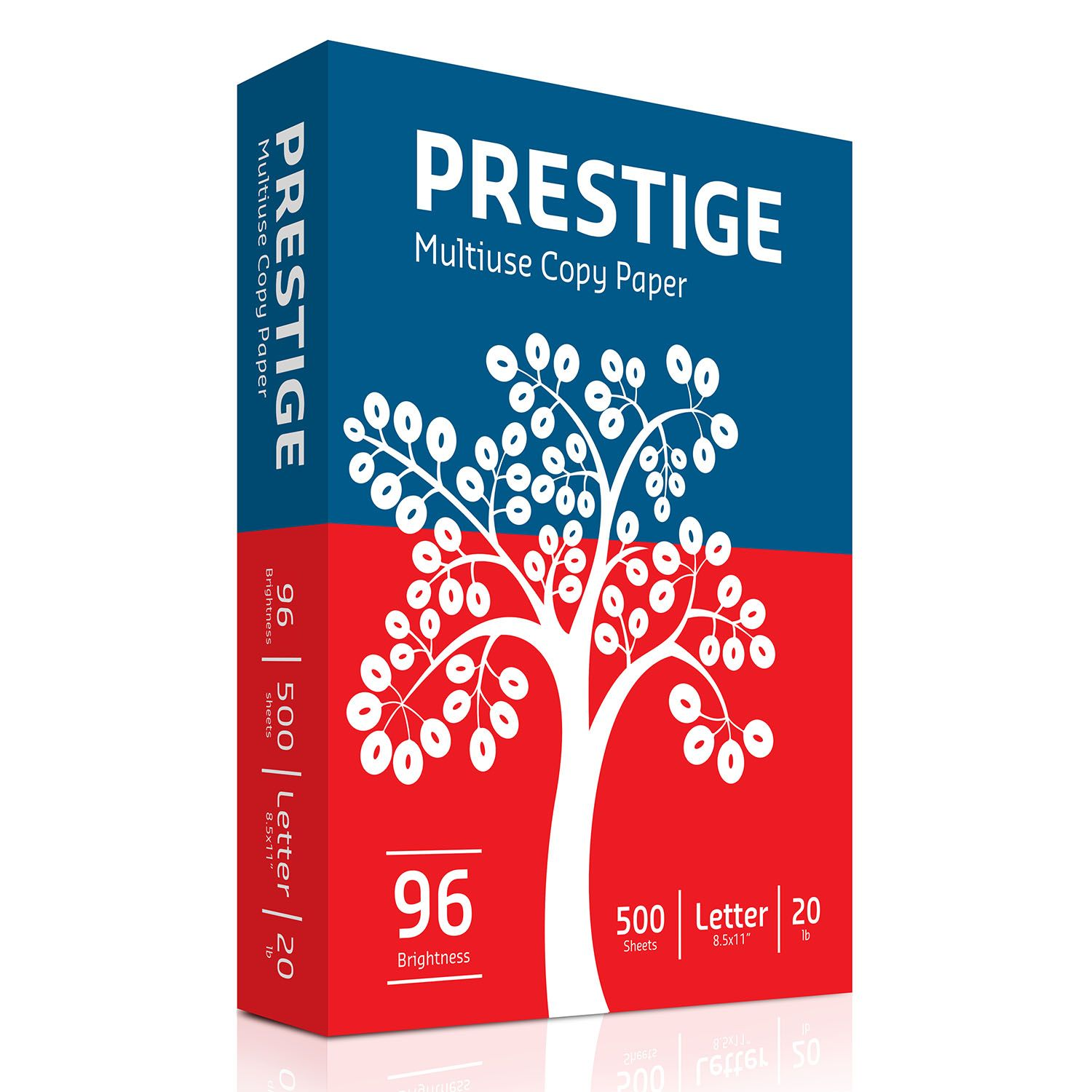Prestige Multi-Use Copy Paper 20lb. 96 Bright 10 Ream Carton
