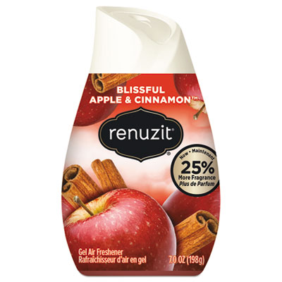 Renuzit Adjustables Air Freshener, Blissful Apples and Cinnamon, 7 oz Cone, 12/Carton