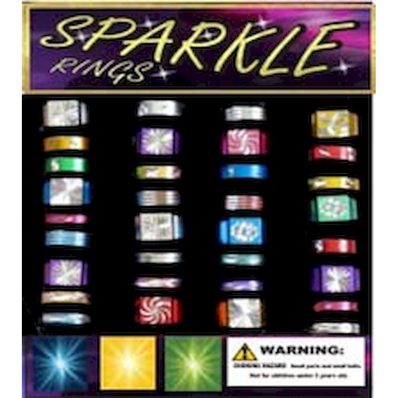 30-SPKRGC1 - Sparkle Rings in 1.1 inch Capsules (250 ct.)
