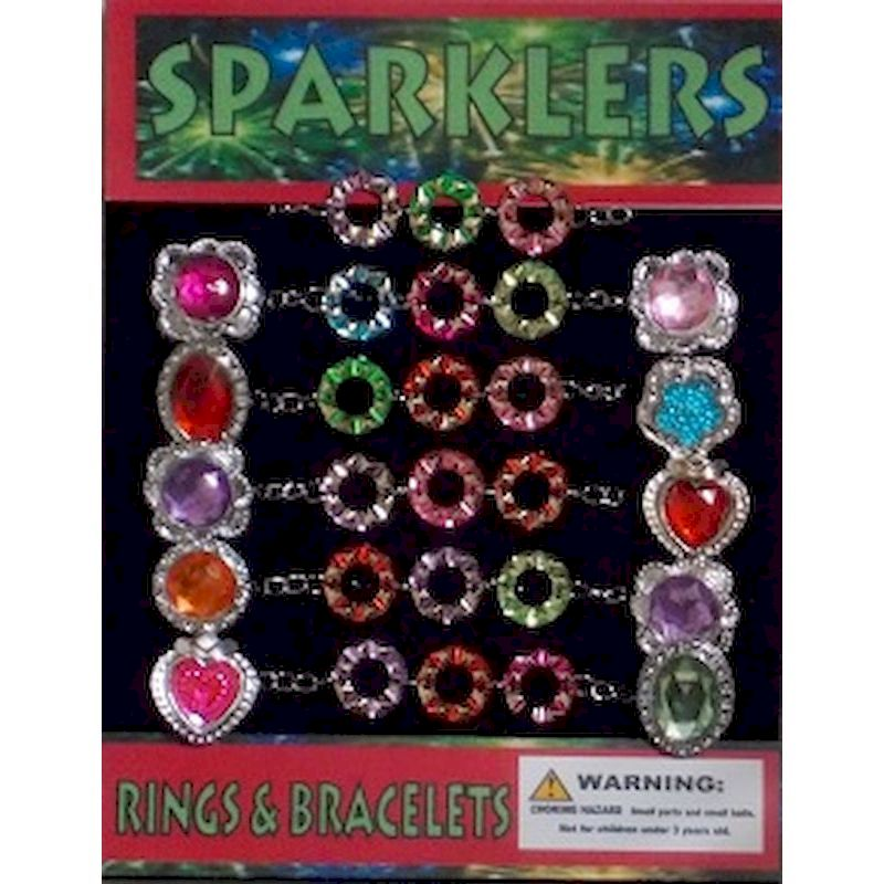 Sparklers Rings & Bracelets in 1.1 inch Capsules (250 ct.)
