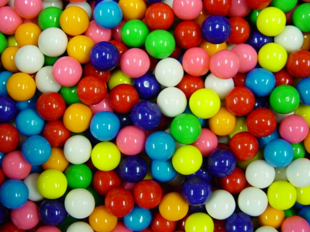 1036 - Dubble Bubble Assorted Bulk Gumballs 5/8 inch (3,650 ct.) 17.8 lbs Net Wgt