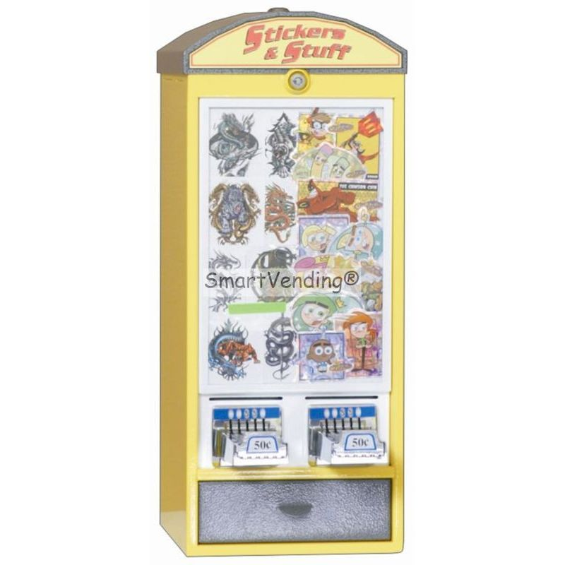LMST200L - Elite Series 2 Column Sticker Machine w/Logo Lid