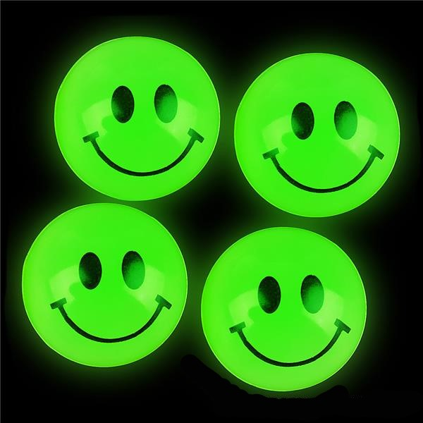 "27GLSM - 27mm (1.06"") Glow Smile Bouncy Balls (144 ct.)"