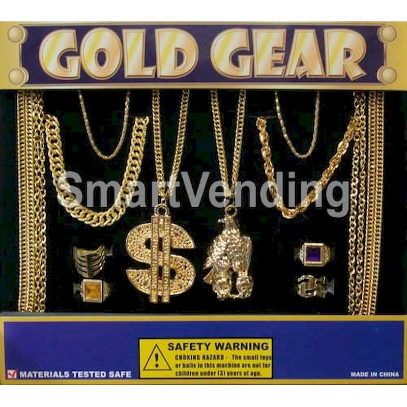 "30-GOGRJC2 - Gold Gear Jewelry in 2"" Capsules (250 ct.)"