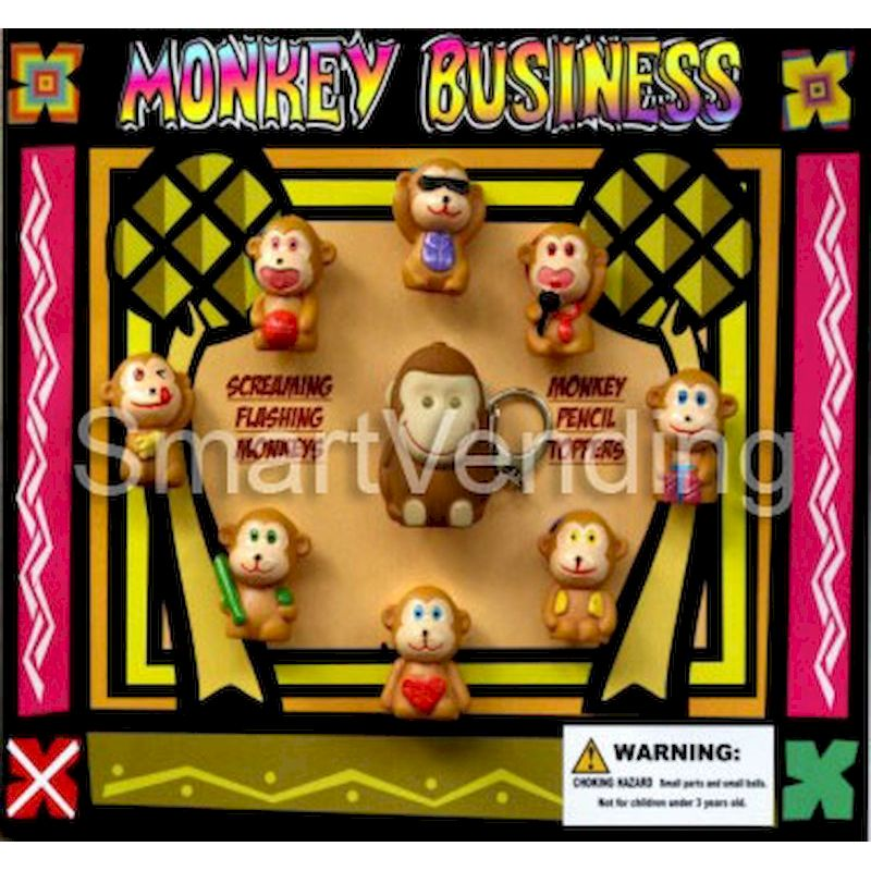 31-MOBUC2 - Live Display for Monkey Business w/Light up Screaming Monkeys & Pencil Toppers