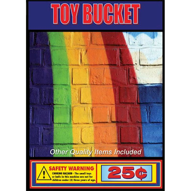 Toy Bucket General Assorted Mix in 1.1 inch Capsules (250 ct.)