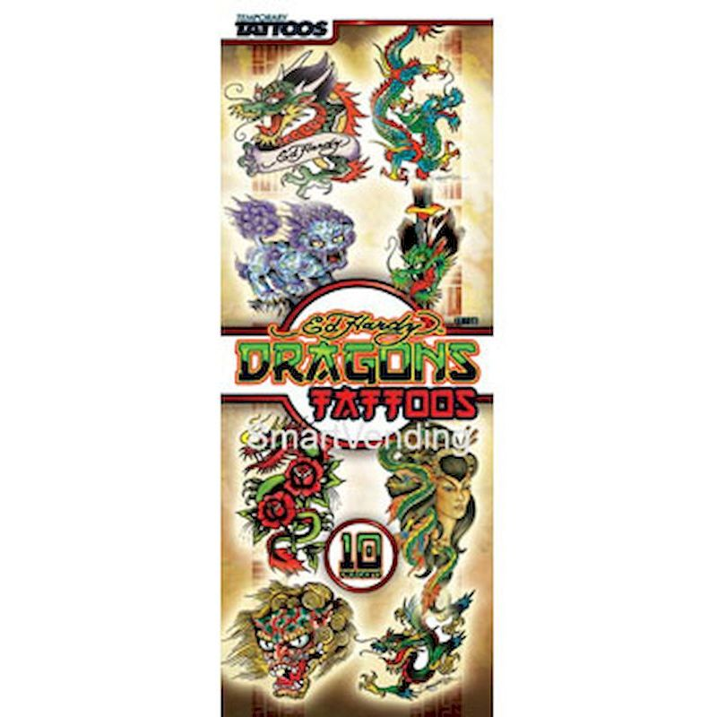 40-EHDTX-D1 - Display Card for Ed Hardy Dragon Tattoos