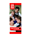 40-ODT - One Direction Licensed Tattoos in folders (300 ct.) w/ Free Display Card