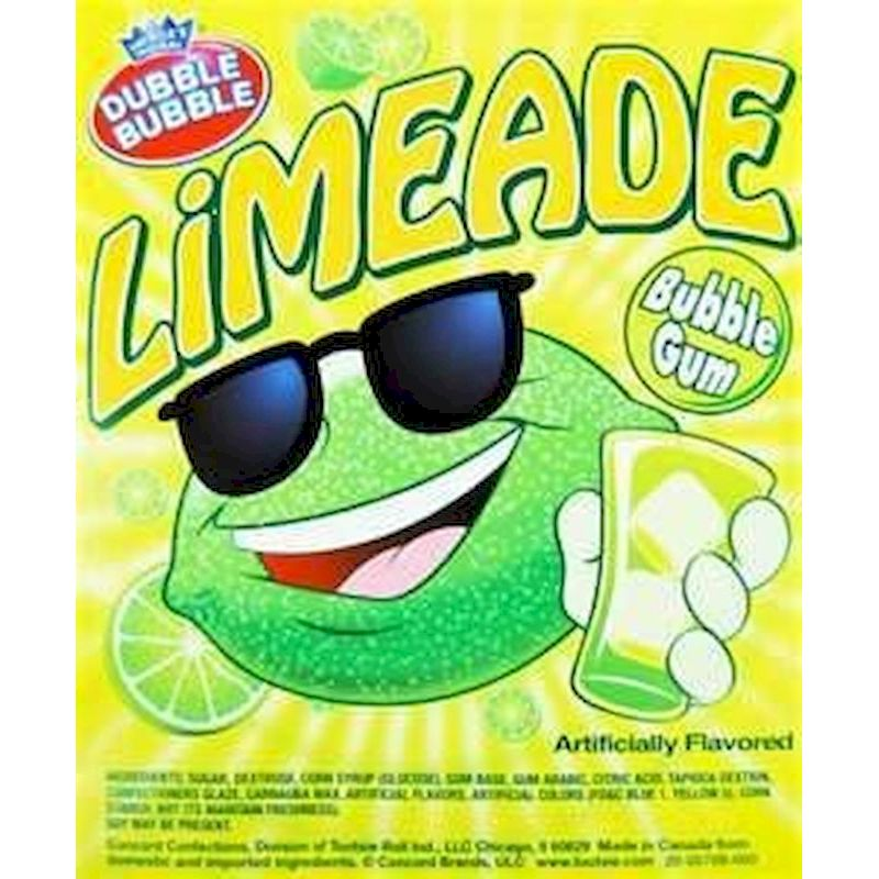 5708 - Dubble Bubble Limeade Flavored 1 in Gumballs Bulk (850 ct.)