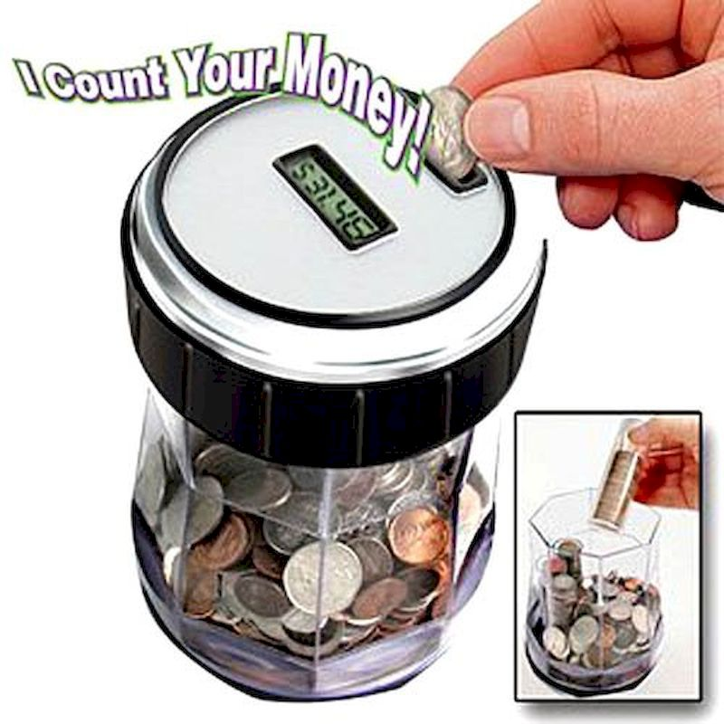 61-3550 - EZ-Count Digital Coin Counter and Sorter Jar
