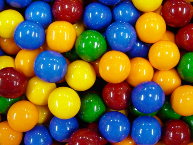 """Cry Baby Guts Sour Candy Filled 1"""" Gumballs (850 Ct.) 17.7 lbs. Net Wgt."""
