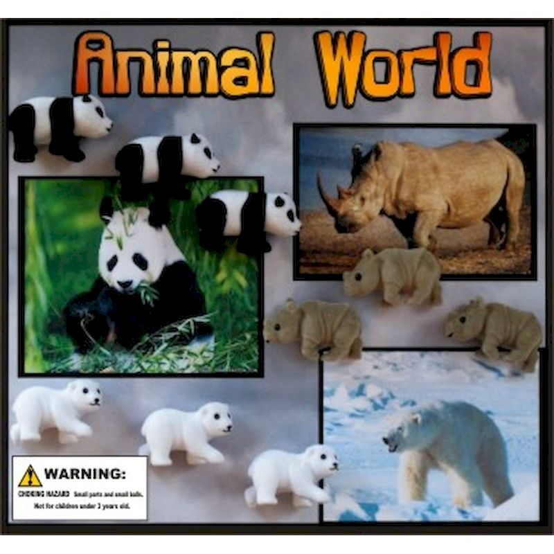 30-ANWOC2 - Animal World Figures in 2 inch Capsules (250 ct)