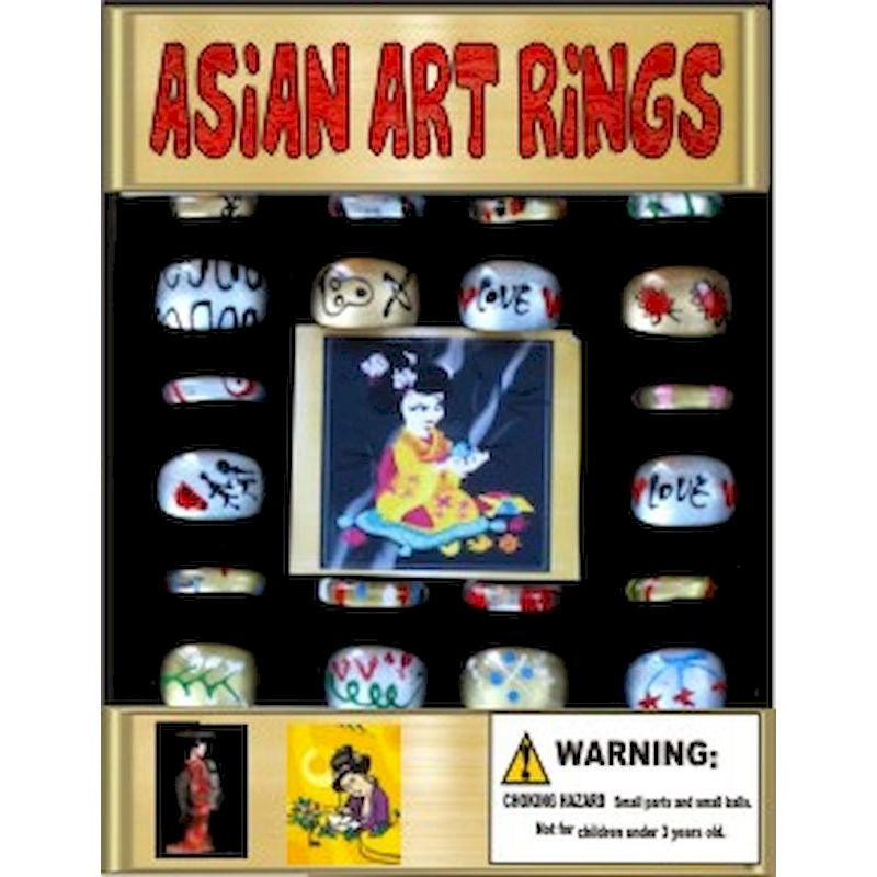 30-AARGC1 - Asian Art Rings in 1.1 inch Capsules (250 ct)