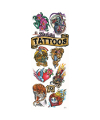 40-BEFIT - Bullseye Fresh Ink Licensed Tattoos in folders (300 ct.) w/Free Display Card