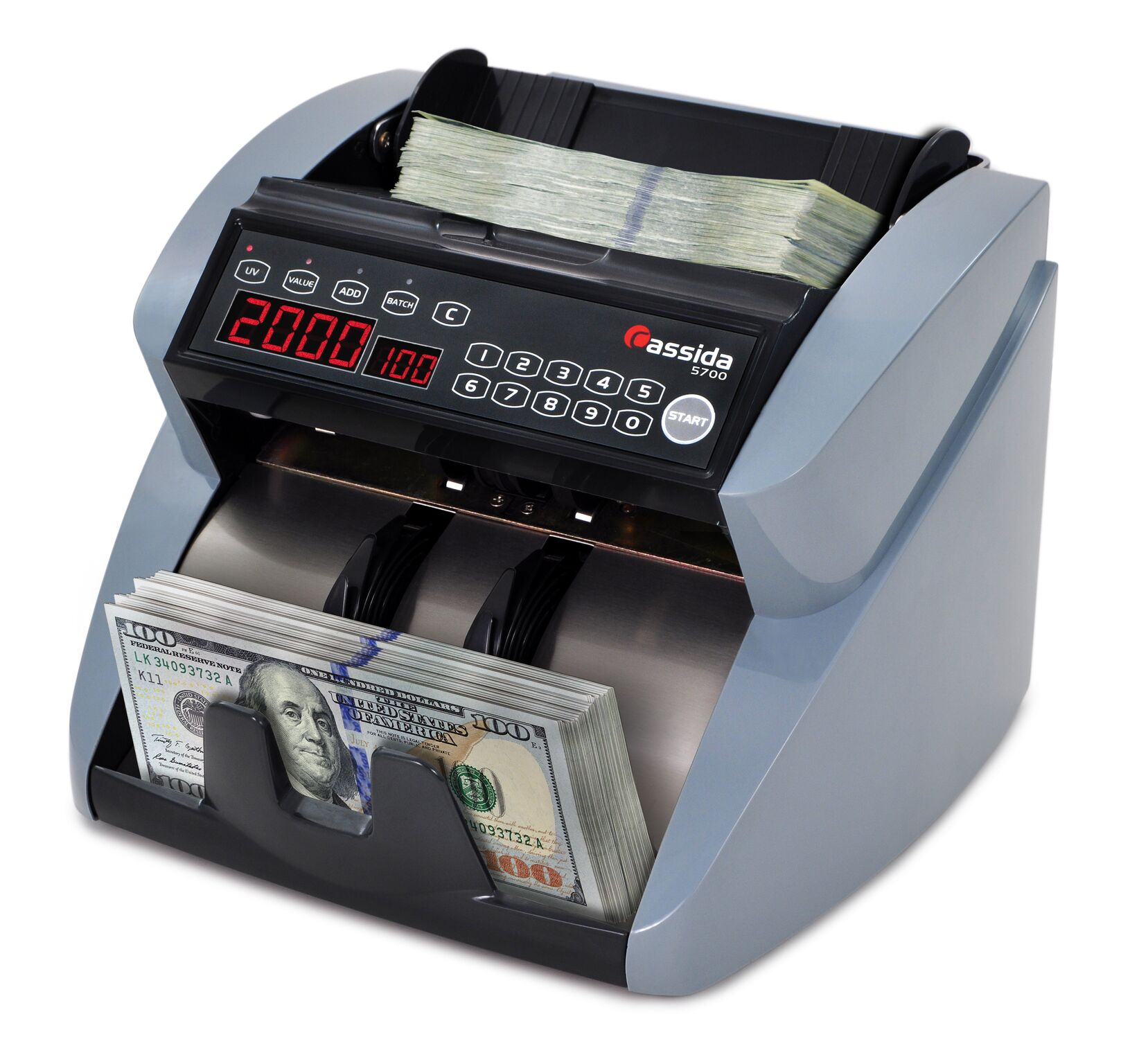 Cassida 5700 UV Currency Counter with ValueCount