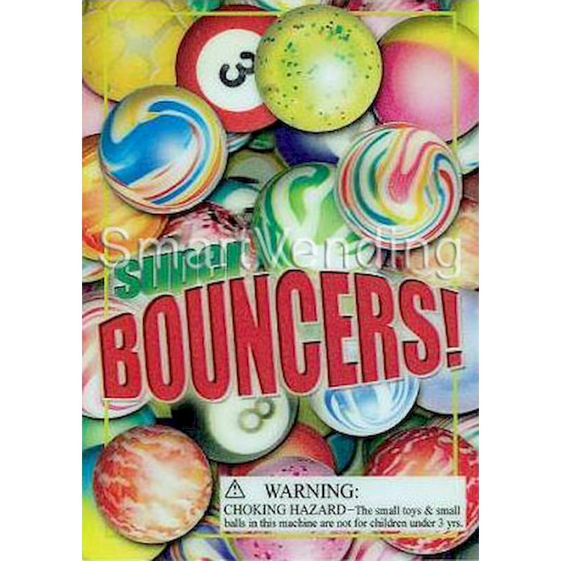 3-D Display Card for Assorted Bouncy Balls