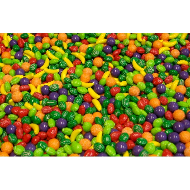 4290 - Nitwitz Fruit Shaped Coated Candy (18,050 ct.) 30 lbs. Net Wgt.