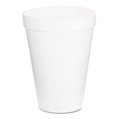 18-DCC12J16 - Dart 12 oz White Foam Cup 12J16 - 1,000/carton