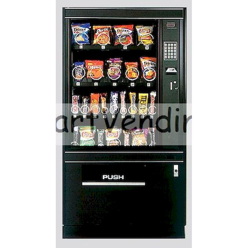 FM-345 - Electronic Glass Front Snack Machine - 25 Selections